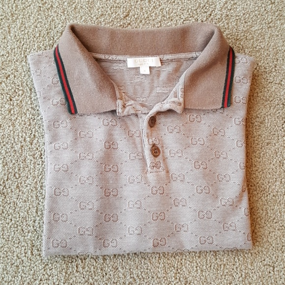 02072741 Gucci Shirts & Tops | Authentic Kids Full Sleeved Collared Polo ...